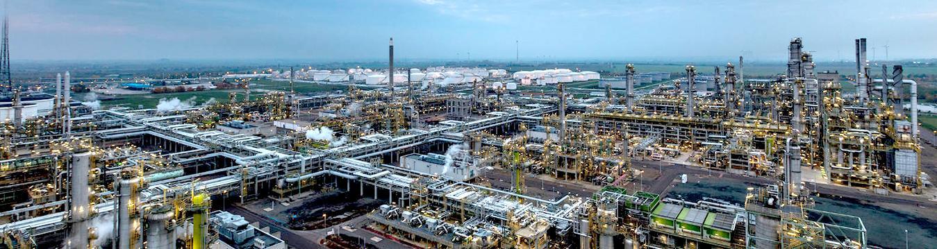 Vogelperspektive einer Industrieanlage